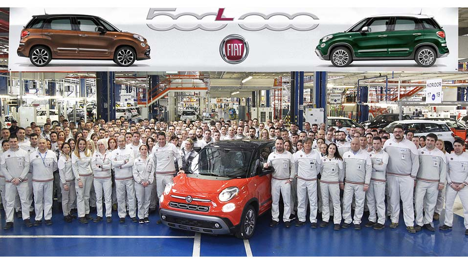 500,000th Fiat 500L Rolls Off Production Line